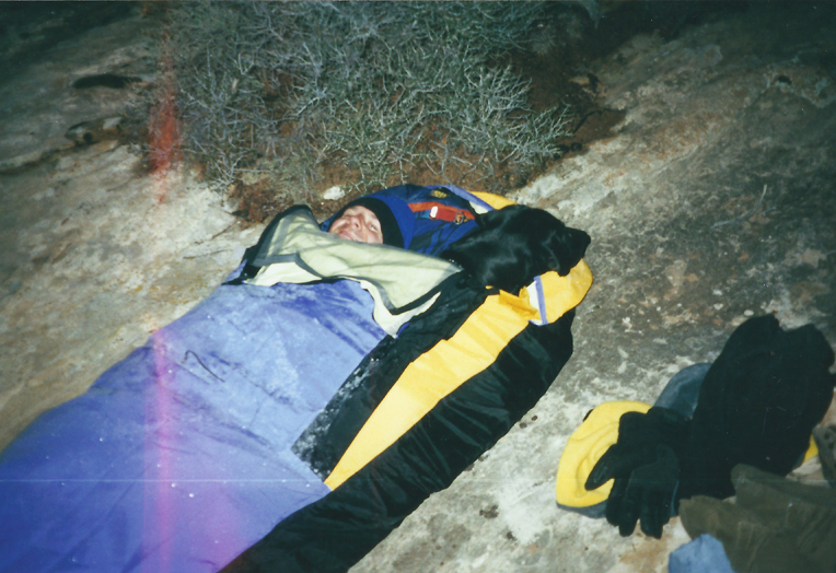 Bullet_Canyon.jpg - Rudy's first back packing trip to the Grand Gulch in November. It was so cold that Rudy slept in the bivy sack.